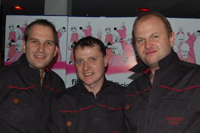 Team Festivalcafé: Roman Kaiser, James Weissenböck und Robert Chudyck