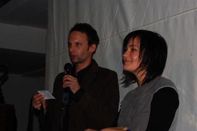 Stefan Deller und Katja Jäger bei der Preisverleihung