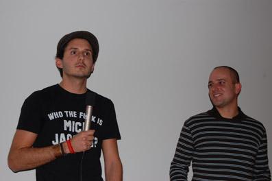 "Sebastian Mayr (li.) und Roland Schober (""Tovarna Rog"")"