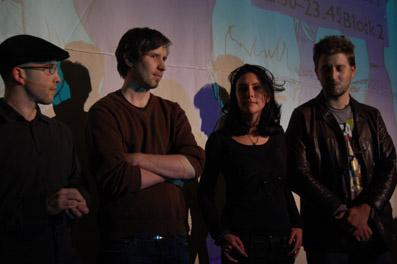 Die FilmemacherInnen Michael Rittmansberger, Andreas Daxer, Andrina Mracnikar und Sinisa Vidovic