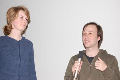 """Mirjam Baker und Michael Kren (""""Die Spektakelmaschine"""")"""