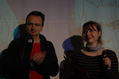 Jurymitglieder Gerald Harringer und Iris Blauensteiner bei der Preisverleihung