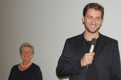 Barbara Wicha und Sinisa Vidovic bei der Verleihung des AK Salzburg Förderpreises