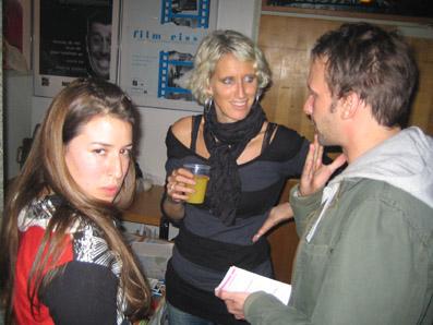Anna Bertsch (li.), Karin Granner und Stefan Deller
